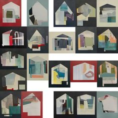 Housing Estate - Mixed Media Works by Jessica Bell - Design Milk