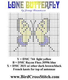 crosstitch patterns | Small Eastern Tiger Swallowtail Butterfly