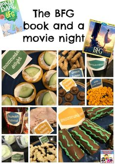 The BFG movie night snacks - - Are you ready for a crazy movie night? Looking for a fun way to take reading to the next level? Then you need to try The BFG movie night. Movie Night For Kids, Movie Night Snacks, Movie Night Party, Dinner And A Movie, Night Food, Family Movie Night, Disney Family Movies, Kid Movies, Bfg Movie