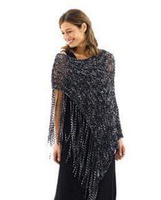 Trellis Poncho pattern by Lion Brand Yarn Poncho Knitting Patterns, Mittens Pattern, Shawl Patterns, Cardigan Pattern, Knitted Poncho, Easy Knitting, Knitted Shawls, Knitting Designs, Dress Patterns
