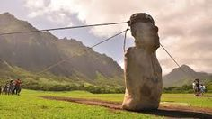 Did Easter Island statues walk? Or rock and roll? Easter Island Statues, Polynesian People, Destinations, World Traveler, Rock And Roll, Horses, Experimental, Animals, Cabo
