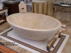 Unique Stone travertine Bathtub Beige Latte