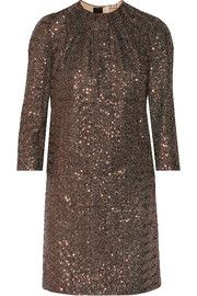 No. 21Annalisa metallic sequined mini dress