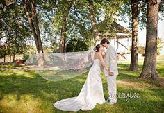Bride and Groom enjoying themselves outside near our gazebo!