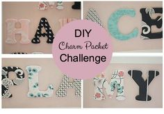 See how I used fabric and wood letters in a DIY Charm Packet Challenge to make an inspirational sign.