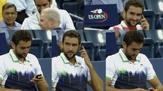 Marin Čilić (Tennis Player),The US Open (Tennis) (TV Program Creator),Mobile,Phone,Kei Nishikori (Tennis Player)