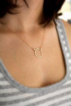 Gold Circle Necklace, Sister's Necklace, Friendship Necklace, Eternity Circle, Karma Circle, Pearl, 14k gold fill, Bridesmaid Gift, Simple