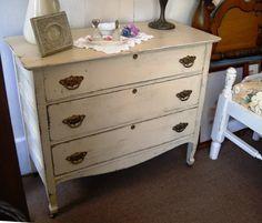 Vintage Oak Dresser Cottage Chic by VintageAppleTreasure on Etsy, $300.00 www.thegoldenapplenc.com SOLD!