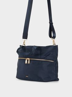 Shopper Em Nylon, Azul Marinho Bags, Fashion, Navy Blue, Handbags, Moda, Totes, Fasion, Lv Bags, Taschen