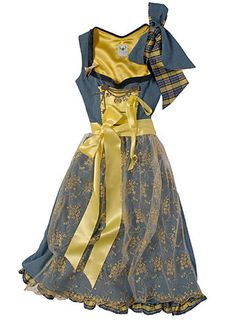 beautiful and cheerfully lovely dirndl Oktoberfest Costume, Dirndl Dress, Folk Fashion, Women's Fashion, Princess Outfits, 1940s Dresses, Yellow Fashion, Couture Dresses, Fashion Dresses