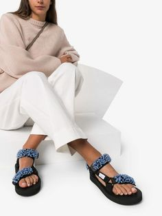 Check out Cecilie Bahnsen with over 2 items in stock. Shop Cecilie Bahnsen x Suicoke Maria floral-appliqued sandals today with fast Australia delivery and free returns. Sandals Outfit, Sport Sandals, Grey Fashion, Fashion Outfits, Fashion Ideas, Most Comfortable Sandals, Accessorize Fashion, Fashion Essentials, Boutique