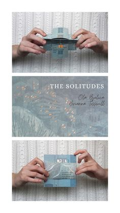 The Solitudes by Ola Bjelica and Brianna Tosswill. An infinity book of short poetry to flip through absentmindedly. Poetry Books, Solitude, Letterpress, Collaboration, Screen Printing, Infinity, Creative, Prints, Inspiration