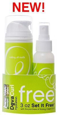 The Limited Edition Maximum Hydration Duo is recommended for botticelli and corkscrew curl types or curls that need additional moisture, conditioning and frizz control, and includes a full size 5.1 oz DevaCurl Styling Cream and a FREE 3 oz DevaCurl Set It Free moisture lock spray. Together, these hydrating styling products leave curls moisturized, enhanced and frizz free.
