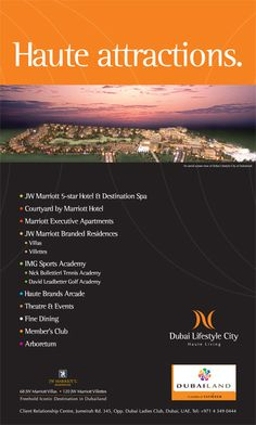 Dubai Lifestyle City : Its one of our Media Campaigns or Advertising Artworks or Design by BrandTag, Dubai-UAE