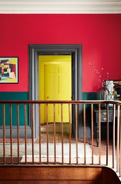 Colour queen Sophie Robinson and Kate Watson-Smyth discuss biophilia, colour blocking and influnces from childhood homes on the great indoors Hallway Colour Schemes, Hallway Paint Colors, Paint Color Schemes, Yellow Paint Colors, Best Paint Colors, Paint Colors For Home, Peinture Little Greene, Little Greene Paint, Interior House Paint Colors