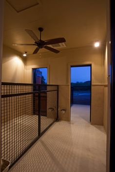 Nice kennel fencing for indoors, plus the automatic watering station