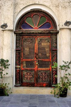 Ornate Door detail in Souq Waqif,Doha,Qatar