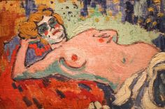 Reclining nude, by Maurice de Vlaminck, 1905. Old Masters at the Courtauld Gallery