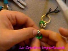 Chainmail Tutorial: varianti maglia a rosetta, orecchini bracciale ciondolo | pendant earring - YouTube