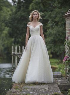 Romantic off-shoulder wedding dress   Stephanie Allin 2016: Love Letters Collection via @SouthBoundBride