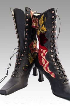 Moulin Rouge Victorian Boots by Pendragon Shoes | photo copyright Bibiana Stanfield at    commercialphotography4u