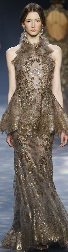 Marchesa, Taupe, Formal Dresses, Elegant, Celebrities, Lady, How To Wear, Beauty, Collection