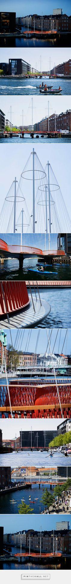 olafur eliasson's cirkelbroen bridge opens in copenhagen - created via http://pinthemall.net