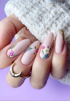 60 Classy Pink Nails with Glitter Accent and Rhinestones - The First-Hand Fashion News for Females Pastel Pink Nails, Barbie Pink Nails, Dark Pink Nails, Matte Pink, Violet Nails, Ongles Rose Pastel, Ongles Rose Mat, Nail Art Designs, New Nail Art Design