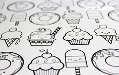 Printable Wrapping Paper – Desserts