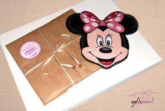 Minnie Mouse painted wood coasters.  Suporturi de pahar din lemn pictat. GADAMART Sunglasses Case, Minnie Mouse