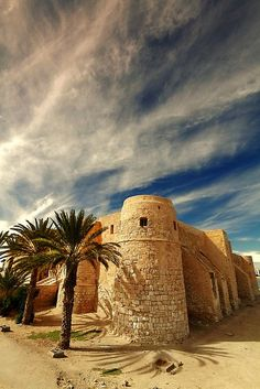 Ghazi Mustapha Fort, Djerba, Tunisia by Places Around The World, Oh The Places You'll Go, Places To Visit, Around The Worlds, Tunisia Africa, Beautiful World, Beautiful Places, Africa Travel, North Africa