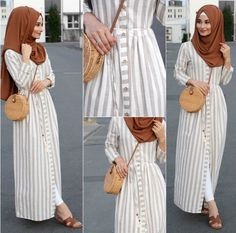 How to add glam to a causal look? Well we can see here in our post how to create a glamorous hijabi looks, and how to get some inspiration by those stunning Muslim Women Fashion, Modern Hijab Fashion, Abaya Fashion, Modest Fashion, Fashion Dresses, Maxi Dresses, Modest Dresses, Fashion Muslimah, Fashion 2017