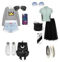 """""""Untitled #224"""" by chara-sommerfeld on Polyvore featuring Vans, Valentino, Jaeger, Alice + Olivia, Lancaster, Linda Farrow and Yves Saint Laurent"""