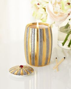 10th Anniversary Candle, Gold - L'Objet
