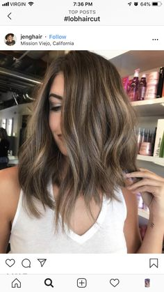 Balyage Hair, Brown Hair Balayage, Brown Blonde Hair, Hair Color Balayage, Brunette Hair, Hair Highlights, Brown Hair Shades, Grunge Hair, Pretty Hairstyles