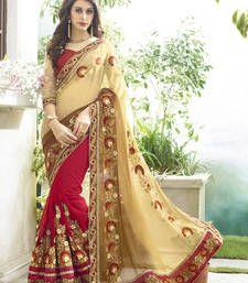 New Bollywood Saree Indian Ethnic Pakistani Designer Saree Wedding Sari Saree Blouse Patterns, Designer Blouse Patterns, Saree Blouse Designs, Sari Blouse, Pure Georgette Sarees, Chiffon Saree, Designer Sarees Wedding, Saree Wedding, Wedding Dresses