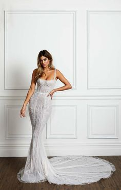 Fit and Flare Wedding Dress Pallas Couture La Blanch Bridal Collection Pallas Couture, Western Wedding Dresses, Dream Wedding Dresses, Designer Wedding Dresses, Bridal Dresses, Event Dresses, Fitted Wedding Dresses, Tulle Wedding, Couture Wedding Dresses