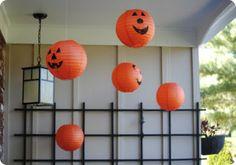 Hanging pumpkin lanterns inspired by PBK