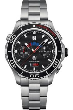 Sail the seas with the elite as Tag Heuer partners with Oracle Team USA during the 34th annual America's Cup. This Limited Edition Calibre 72 Countdown Chronograph features the official Team USA emble
