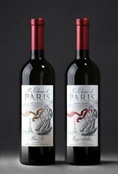 """Alex Kodimsky / Etiketka - diseño del vino francés """"Le Charme de Paris"""" - World Packaging Design Sociedad / 世界 包裝 設計 社會 / Sociedad Mundial de Diseño de Empaques"""