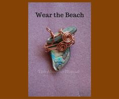 The Abalone Nomad ~ Products ~ Abalone Pendant with Copper Wire ~ Shopify <3 Pin for Later