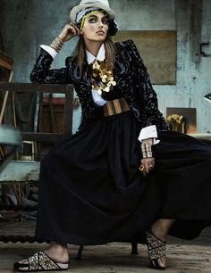 "Karlina Caune ByGiampaolo Sgura For Vogue Germany May 2013 ""Folk Dandy"""