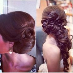 found this pic on Instagram | beautiful side hair-do, looks like flowers in her hair too - how'd they do that?! | great hairstyles ideas for Proms & Weddings or just for fun! | follow us for more fashion solutions www.purestylegirlfriends.ca
