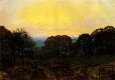 John Atkinson Grimshaw - Twilight - The Vegetable Garden, 1869