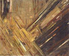 Mikhail Larionov - Nocturne TATE Oil paint on canvas, 502 x 610 mm Presented by Eugène Mollo and the artist 1953 Tate London, Frantisek Kupka, Russian Avant Garde, Avant Garde Artists, Tate Gallery, Art Terms, Impressionist Landscape, Art Database, Art Moderne