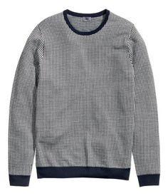 dark blue cotton Merino Wool Sweater Art.No. 44-7483