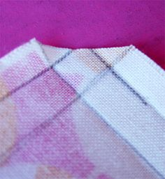 Cloth napkin and muttered corner tutorial