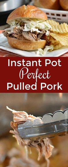 Instant Pot Pulled Pork - Easy pork shoulder butt roast made in the pressure cooker in only 2 hours! Meat is fork tender and perfect and can be used for sandwiches, carnitas, nachos, burritos or alone. from Meatloaf and Melodrama #instantpot #pressurecooker #glutenfree