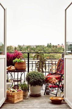 20 imágenes inspiradoras para disfrutar del balcón en primavera