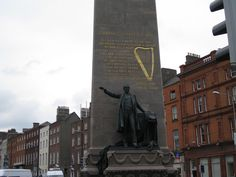 """Charles Stuart Parnell Statue, Dublin    """"No man has a right to fix the boundary to the march of a nation. No man has a right to say to his country thus far shalt thou go and no further. We have never attempted to fix the ne plus ultra to the progress of Irelands nationhood and we never shall"""""""